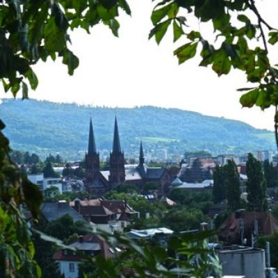 Germany Freiburg Skyline